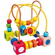 Bino Buntes Labyrinth mit Perlen - Didaktisches Spielzeug