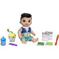 Baby Alive Ein dunkelhaariger Junge mit einem Mixer - Puppe