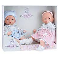 Marina & Pau 573-K Zwillings Puppen - Babypuppen mit Geräuschen und einem weichen Stoffkörper - Puppe