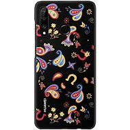 Huawei Original Colorful TPU Cover Flower Black für P30 Lite - Handyhülle