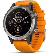 Garmin Fenix ??5 Plus Saphir Titan, Orange Band - Smartwatch