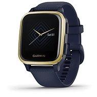 Garmin Venu Sq Musik Light Gold / Bau Armband - Smartwatch