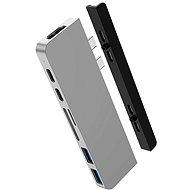 HyperDrive DUO 7in2 USB-C Hub für MacBook Pro/Air - silber - Port-Replikator