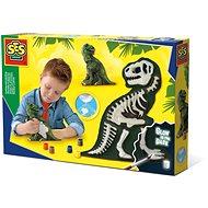 Experimentier-Set SES Gips Set - Leuchtendes Skelett eines T-Rex
