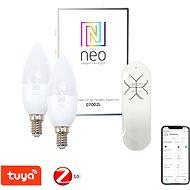 Immax Neo LED E14 / 230V C37 5W 2 Stück + Fernbedienung - LED-Lampe