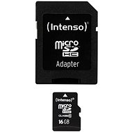 Intenso Micro SDHC 16GB Class 10 SDHC + Adapter - Speicherkarte