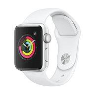Apple Watch Series 3 38mm GPS Silber Aluminium mit weißem Sportarmband - Smartwatch