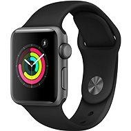 Smartwatch Apple Watch Series 3 38mm GPS Spacegrau schwarzes Sportarmband aus Aluminium