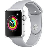 Apple Watch Series 3 42mm GPS Silber Aluminium mit Sportarmband Nebel-Grau - Smartwatch