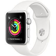 Apple Watch Series 3 42mm GPS Silber Aluminium mit weißem Sportarmband - Smartwatch