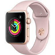 Apple Watch Series 3 42mm GPS Gold Aluminium mit Sportarmband Sandrosa - Smartwatch