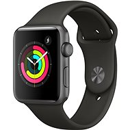 Apple Watch Series 3 42mm GPS Space-grey Aluminium mit Sportarmband grau - Smartwatch