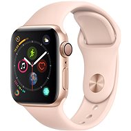 Apple Watch Series 4 40mm Gold Aluminium Sportarmband, Sandrosa - Smartwatch