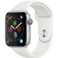 Apple Watch Series 4 44mm Silber Aluminium mit weißem Sportarmband - Smartwatch