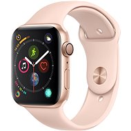 Apple Watch Series 4 44mm Gold Aluminium mit rosasandfarbenem Sportarmband - Smartwatch