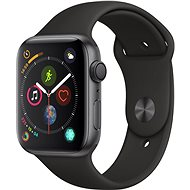 Apple Watch Series 4 44mm Space schwarz Aluminium mit schwarzem Sportarmband - Smartwatch