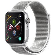 Apple Watch Series 4 44mm Aluminiumgehäuse, Silber, mit Sport Loop, Muschel - Smartwatch