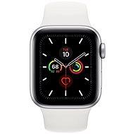 Apple Watch Series 5 40mm Silber Aluminium mit weißem Sportarmband - Smartwatch