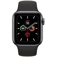 Apple Watch Series 5 40mm Space Grey Aluminium mit schwarzem Sportarmband - Smartwatch