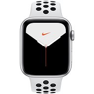 Apple Watch Series 5 Nike + 44mm Silber Aluminium mit Nike Sportarmband in Platin / Schwarz - Smartwatch