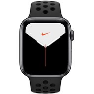 Apple Watch Series 5 Nike + 44 mm Spacegrau Aluminium mit Nike Sportarmband Anthrazit/Schwarz - Smartwatch