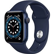 Apple Watch Series 6 40mm Aluminiumgehäuse Blau mit Sportarmband Dunkelmarine - Smartwatch