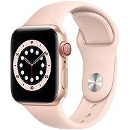 Apple Watch Series 6 - 40 mm - Cellular Gold Aluminium mit sandrosa Sportarmband - Smartwatch