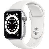 Apple Watch Series 6 44mm Aluminiumgehäsue Silber mit Sportarmband weiß - Smartwatch