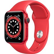 Apple Watch Series 6 44mm Aluminiumgehäuse Rot mit Sportarmband rot - Smartwatch