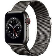 Apple Watch Nike Series 6 - 44 mm Cellular Graphite Edelstahl mit Milanaise Armband in Graphit - Smartwatch