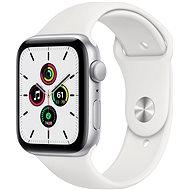 Apple Watch SE 40mm silberfarbenes Alugehäuse mit weißem Sportarmband - Smartwatch