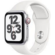 Apple Watch SE 40mm Cellular Silber Aluminium mit weißem Sportarmband - Smartwatch