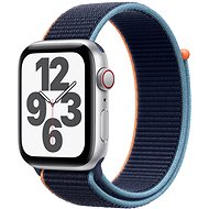 Apple Watch SE 40mm Cellular Silber Aluminium mit marineblauem Sportarmband - Smartwatch