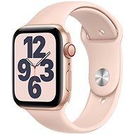 Apple Watch SE 40 mm Cellular gold Aluminium mit sandrosafarbenem Sportarmband - Smartwatch