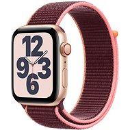 Apple Watch SE 40mm Cellular gold Aluminium mit Sportarmband pflaumenfarben - Smartwatch