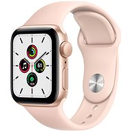 Apple Watch SE 44mm Aluminiumgehäuse Gold mit Sportarmband Sandrosa - Smartwatch