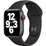 Apple Watch SE 44mm Cellular schwarzes Aluminium mit schwarzem Sportarmband - Smartwatch