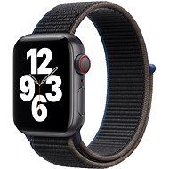 Apple Watch SE 44mm Cellular schwarzes Aluminium mit anthrazitfarbenem Sportarmband - Smartwatch