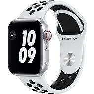 Apple Watch Nike SE - 44 mm Cellular Silver Aluminium mit Nike Sportarmband in Platin/Schwarz - Smartwatch