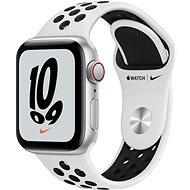 Apple Watch Nike SE Cellular 40 mm Silber Aluminium mit Platinum/Schwarzem Nike Sport Armband - Smartwatch