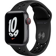 Apple Watch Nike SE Cellular 40 mm Space Gray Aluminium mit Anthrazit/Schwarzem Nike Sportarmbande - Smartwatch