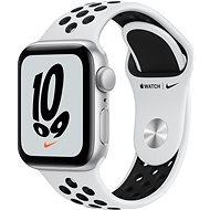 Apple Watch Nike SE 40 mm Silber Aluminium mit Platinum/Schwarz Nike Sport Armband - Smartwatch