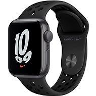 Apple Watch Nike SE 40 mm Space Gray Aluminium mit Anthrazit/Schwarzem Nike Sportarmband - Smartwatch