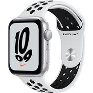 Apple Watch Nike SE 44 mm Silber Aluminium mit Platinum/Schwarzem Nike Sport Armband - Smartwatch