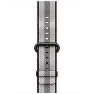 Apple 42mm Schwarz aus gewebtem Nylon (Streifen) - Armband