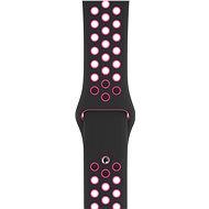 Apple Watch 44mm Schwarzes / Pinkes Nike Sport Band - S / M & M / L - Armband