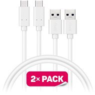 CONNECT IT Wirez USB-C, 1 m, weiß, 2 Stück - Kabel