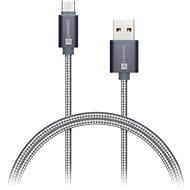 Datenkabel CONNECT IT Wirez Premium Metallic USB-C 1m silbergrau - Datenkabel