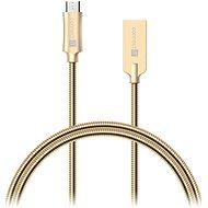 CONNECT IT Wirez Steel Knight Micro USB 1m, Metallic-Gold - Datenkabel
