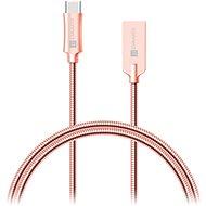 CONNECT IT Wirez Steel Knight USB-C 1m, Metallic-Pink - Datenkabel